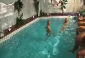 Orgy by the pool side cumshot compilation aidra rae