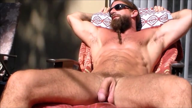 jerking giant cock in the sun Anal dilation with inflatable
