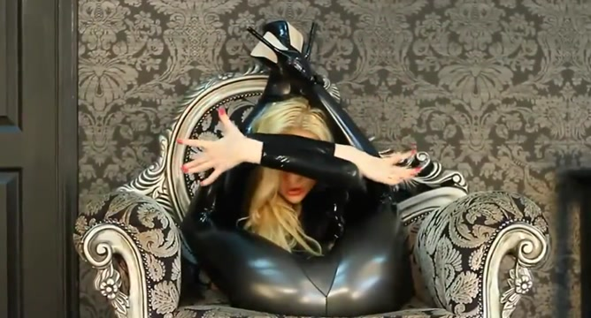 latex uncomplaining slut