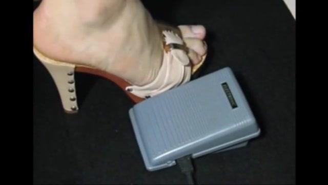 Bare feet in open high heels 12