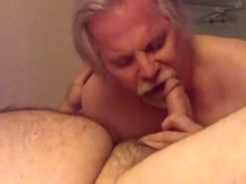 Silver daddy bear blow job Wife Sucks Small Dick