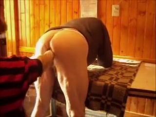 Horny amateur gay movie Caning the anus