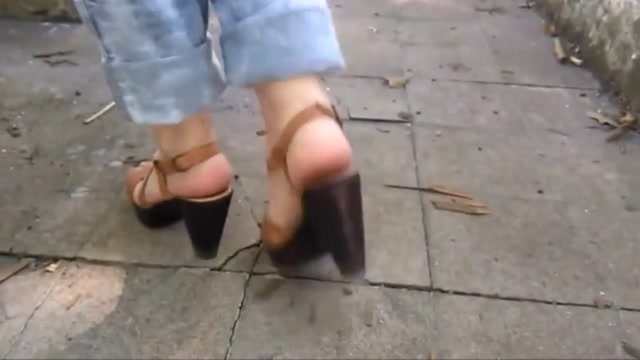 Shoe play Video of girls made to taking it sex