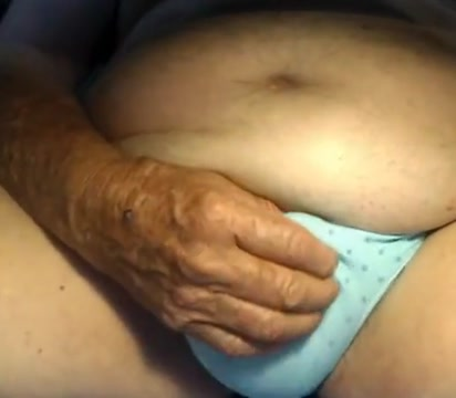 Grandpa play on webcam Leather cuffs bondage