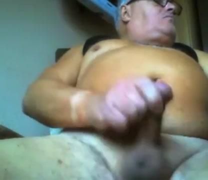 Grandpa stroke on webcam 3 Lick out techniques