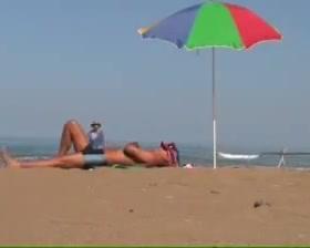 Beach handjob 3 Spanking white blowjob cock and pissing