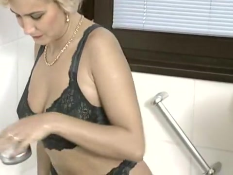 Anal sex mature german couple in a bathroom