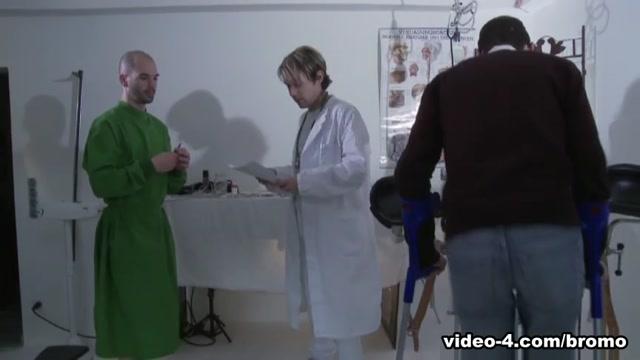 Justin Kingsley & Marco Di Lucca in Operating Room Scene 3 - Bromo black cock cum swallow