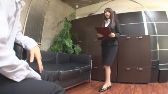 Horny Japanese girl Rui Saotome in Hottest Office, Blowjob JAV scene Asian Milf Gets Pounded