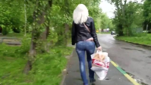 Sexy blond milf s ass