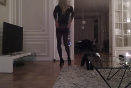 Travesti cd ts tv sissy exhib collants pantyhose hot again Anal creampie thumbs