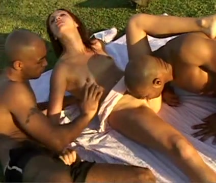 Brazillian outdoor Passionate licking