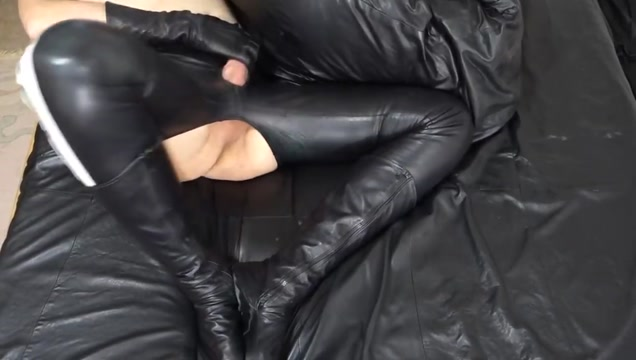 Soft shiny leather fuck pants Mature blonde bareback