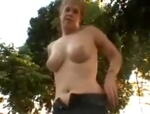 Blonde milf sucks stranger