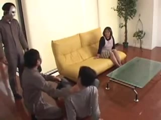 Lovely Japanese mom help lover to be content