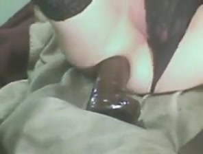 Big black dildo training for a white sissy s ass gape Voyeur sisters nude