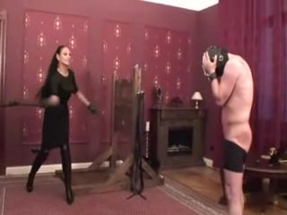 Sissy serf gets a wicked whipping treatment Black pussy misty stone
