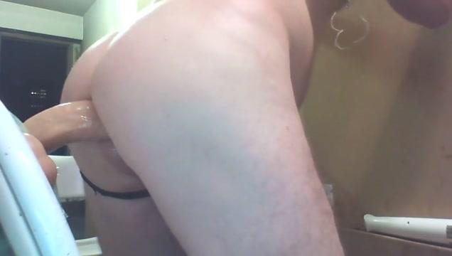 Joeyd giant cock dildo up close juicy butt Latina legs