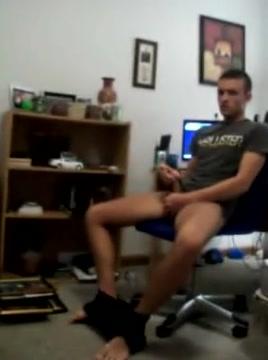 Horny boy wank on cam Femdom slavesluts movie