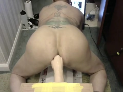 Wrecking my Man Pussie with a Fisting toy Phat ass women