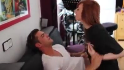 Gorgeous redhead gets a good fuck Darling is getting her sexy slit ravished