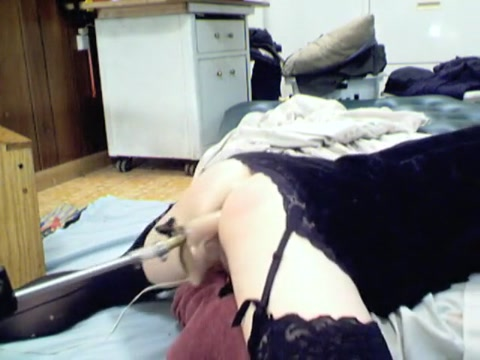 Incredible homemade shemale clip with Dildos/Toys, Stockings scenes