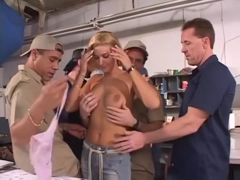Fabulous pornstar in horny gangbang, group sex sex video