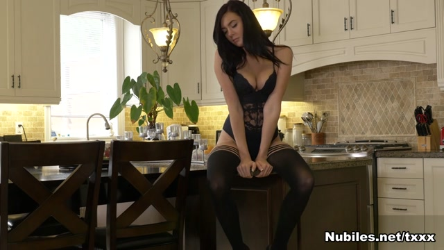 Marley Brinx in Black Stockings - Nubiles