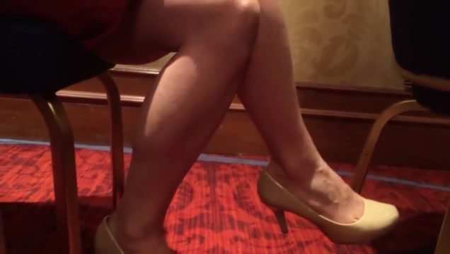 candid heels dangling sexy legs Where to meet white men