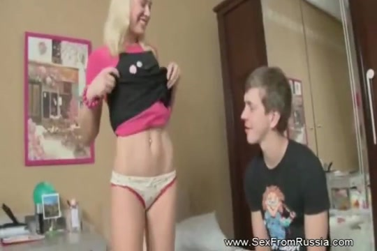 Fat Cock In the Ass for Blonde Teen White chubby flash gif