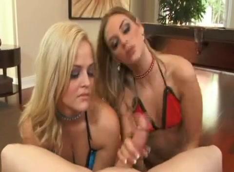 Brianna & Alexis Share a weenie Nude boobs at beach