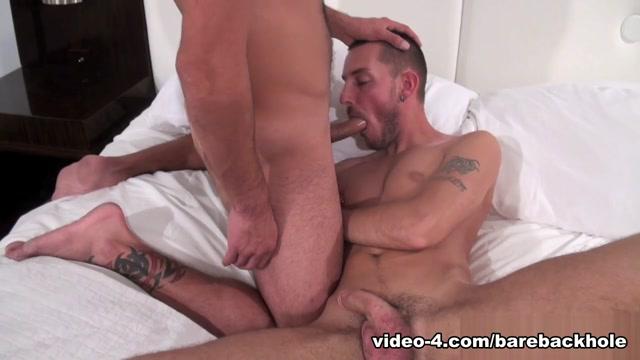 Nick Andrews and Gio Ryder - BarebackThatHole White guy fucking black cock