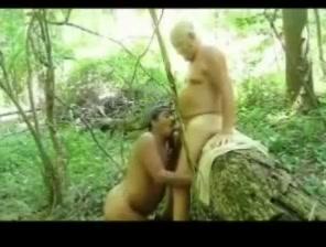 Over The Log Big boobs transgender handjob dick load cumm on face
