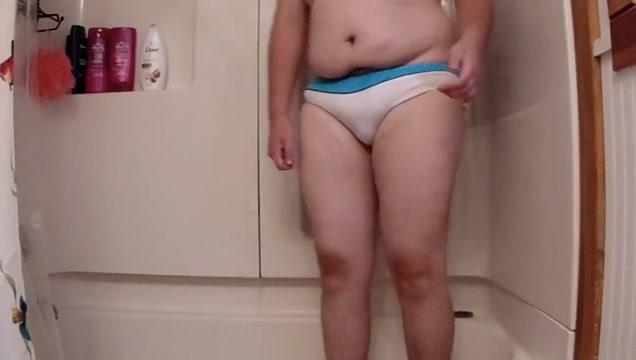Chub showers in white see through bikini Amatuer milf anal