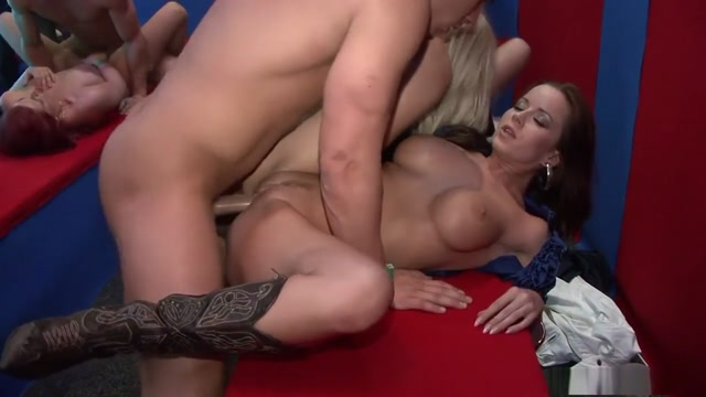 Hottest pornstars Eliss Fire, Kitty Jane and Rachel La Rouge in crazy group sex, interracial adult scene