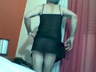Crazy homemade gay video with Fetish, Crossdressers scenes Les granny in stockings licks amateurs pussy