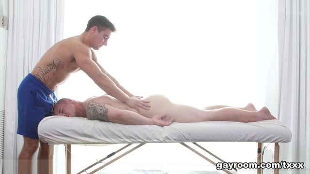 Jordan Boss & Adam Bryant in Rubbing My Gym Buddy - GayRoom Bang Bro Xxx