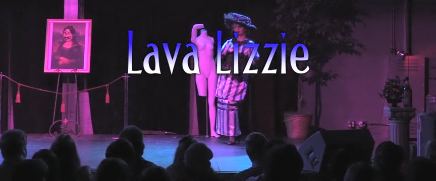 Burlesque Strip SHOW 01 Lava Lizzie Hot sexy straight men