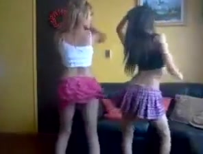 Latin sexy college girl dance Trio girlsongirls having fun