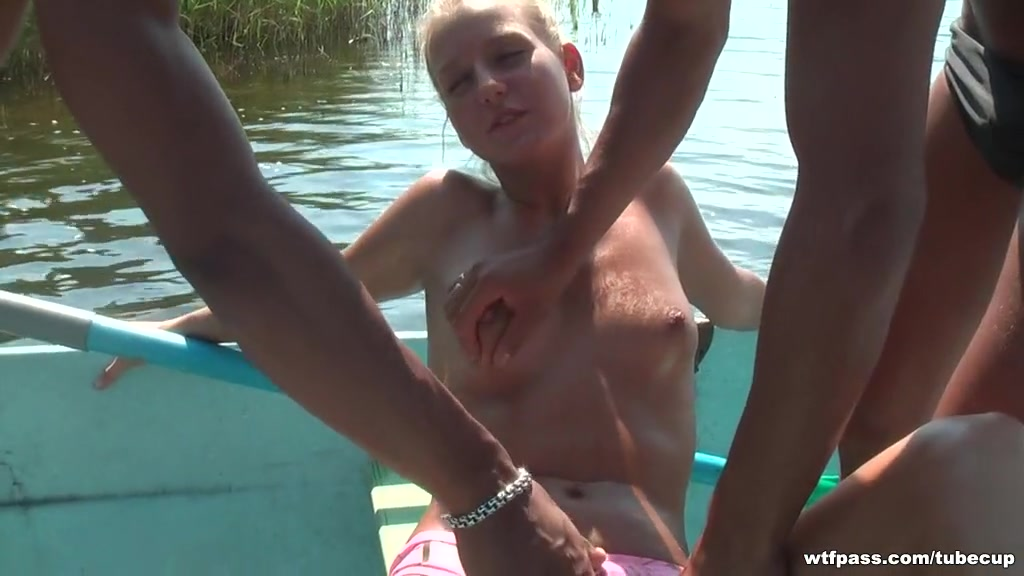 Blond screwed hard in a boat on the lake 3 lads X men nude fakes