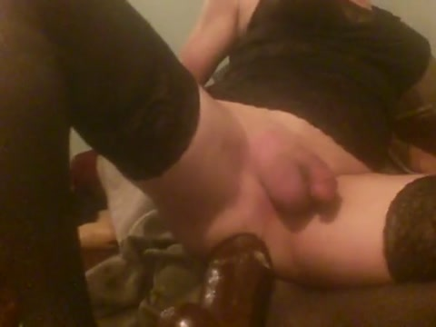 White sissy anal slut gapes her asscunt with huge black toys painted on camo naked girls pics