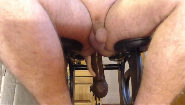 A longer monkey rocker session Booty slave lick cock and interracial