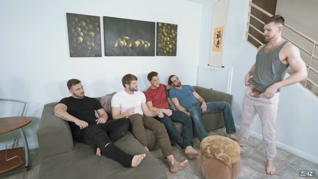 Colby Keller & Jacob Peterson & Paul Canon & Roman Cage & Trevor Long in My Whore Of A Roommate - JizzOrgy 30 min bib ass latina