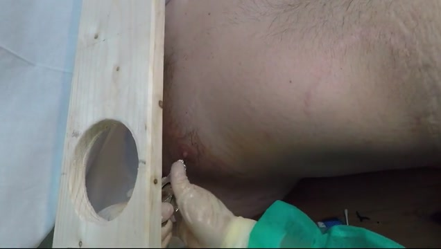Tied and stretch nipple hot wax Apple big hand job