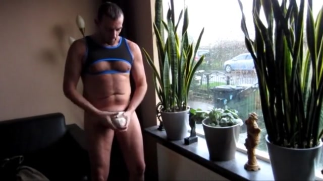 Window jerking Hot naked gay makeout