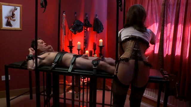 Dominatrix and slave