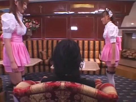 Exotic Japanese model Saki Tsuji, Yuu Urumi, Manami Momosaki in Amazing Threesome, Stockings JAV movie Pizza with extras