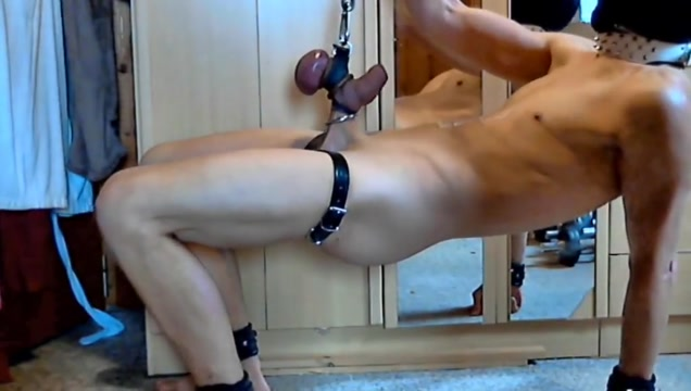 Nacked slave swinging on his balls 2 Big Tits Solo