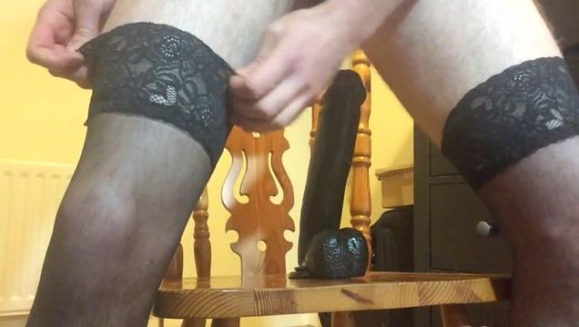 Sissy boy rides bbc dildo Vintage black porn