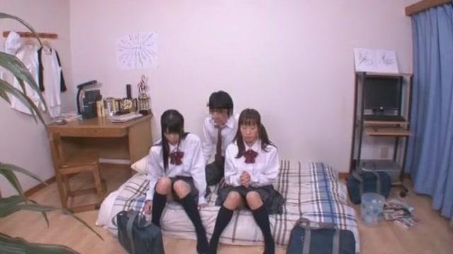 Amazing Japanese whore Yumemi Nakagawa, Yuno Shirasuna, Nozomi Aiuchi in Crazy Couple, Small Tits JAV movie